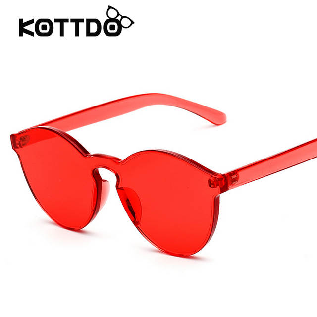 3126fe1275 placeholder Fashion Integrated Eyewear for Women Sunglasses Summer Shades  Red Luxury Brand Designer Men s Sun glasses Candy