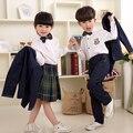 As novas crianças meninos e meninas do jardim de infância serviço de classe uniformes escolares vento Britânico roupas Qiu Dongzhuang coral clothin