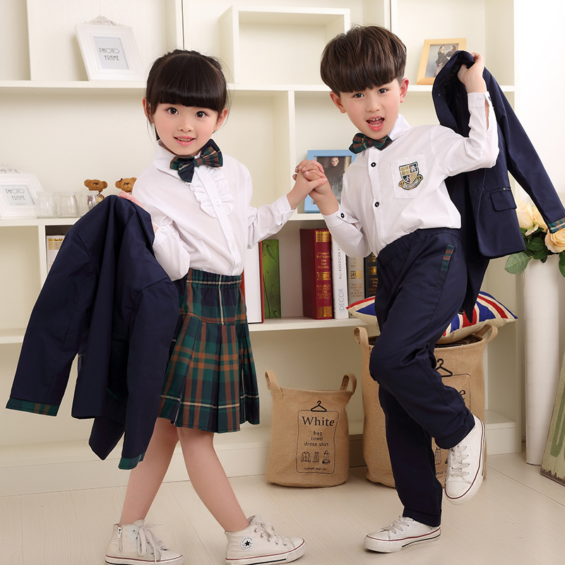 The New Children S School Uniforms British Wind Class -1111