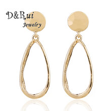 Korean Design Water Drop Earings Fashion Jewelry 2019 Vintage Gold Trend Geometric Dangle Earring for Women Charm Statement Gift