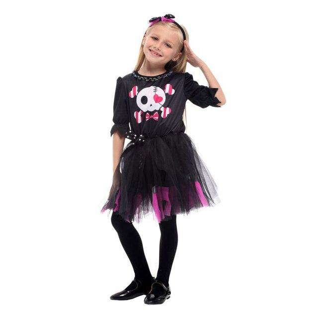 umorden new arrival halloween costumes for girl girls sweet skull dress costume fantasia cosplay