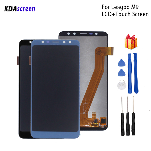 For Leagoo M9 LCD Display Touch Screen Digitizer Replacement For Leagoo M9 Display Screen LCD Phone Parts Free Tools