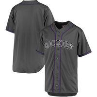 MLB Men S Colorado Rockies Baseball Charcoal Fashion Big Tall Team Jersey