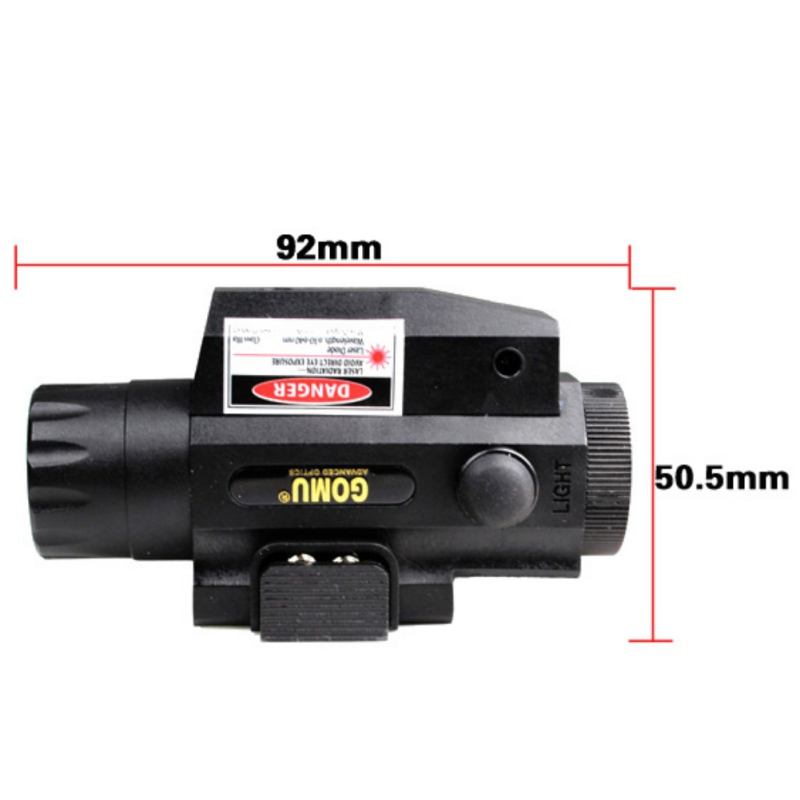 Outdoor Camping Laser Flashlight Red Green Laser Sighting LED Powerful Tactical Flashlight