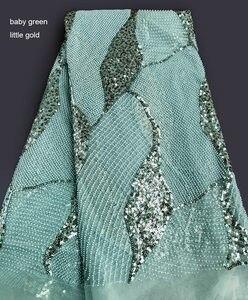 Image 5 - Khủng cổ điển Handwork pháp ren Amazing cưới vải tuyn với tất cả các vòng tay nhỏ hạt pha lê đôi kim sa lấp lánh 5 thước