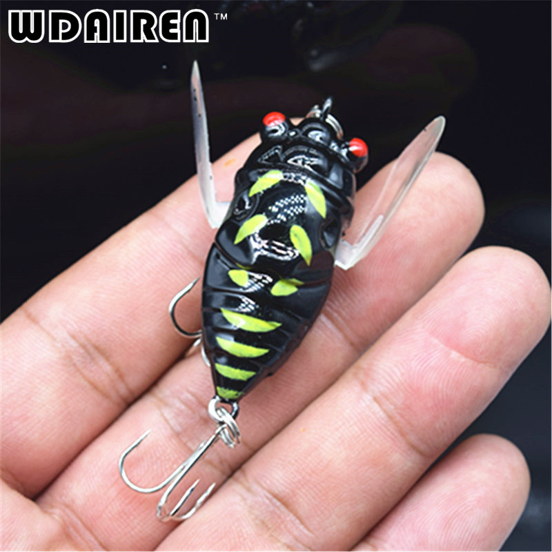 4cm 6g Flying Jig Wobbler Lure Hard Lure Bait Artificial Bait Grasshopper Insects Sea Fishing Hooks Fishing Tackle Fishing Lures new 12pcs 7 5cm 5 6g fishing lure minnow hard bait sea fishing tackle crankbait fishing kit jig wobbler lures bait with hooks
