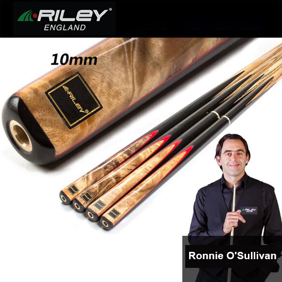 RILEY RHY-200/201 Snooker Cue Handmade 3/4 Piece Snooker Kit with RILEY Case with Professional Extension 10mm Tip Billiard Cue