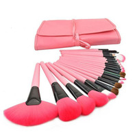 2017 New Arrival Women Pro 24Pcs Pouch Bag Case Superior Soft Cosmetic Makeup Brush Set Kit