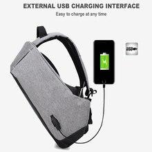Men Laptop Backpack Bag Laptop USB Charging  Bagpack Men Travel Oxford Gray Black Backpacks