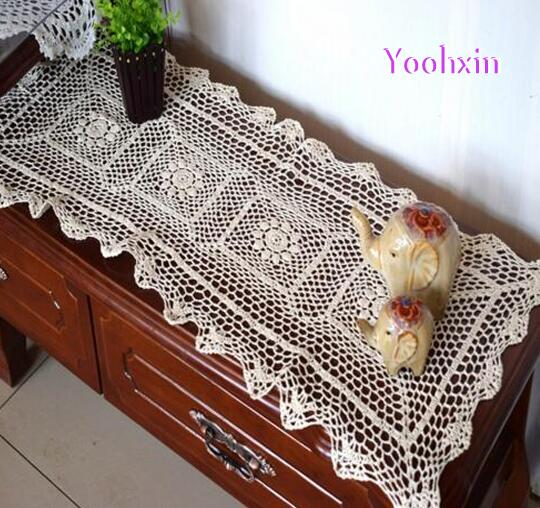 Modern White Cotton Table Runner Cover Mantel Crochet Lace Handmade  Placemat Christmas Table Cloth Mat Tablecloth Wedding Decor In Table  Runners From Home ...
