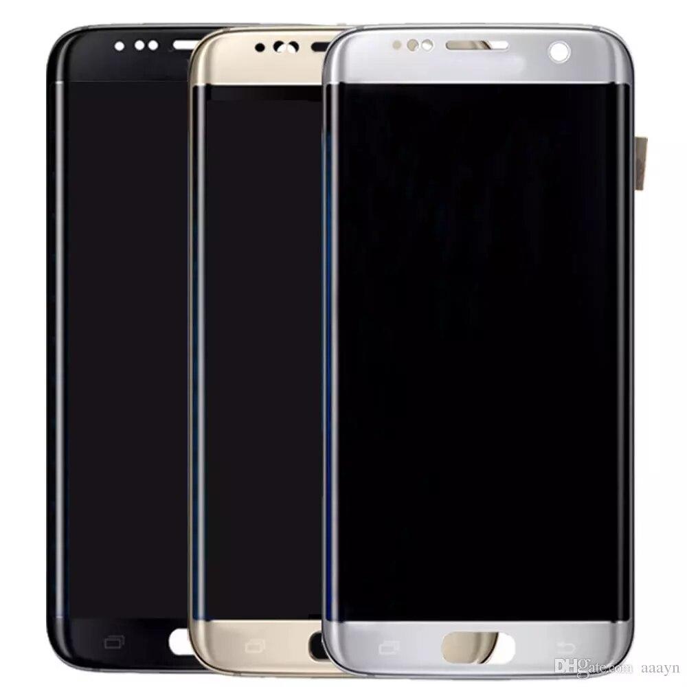 Assemblée complète d'écran de numériseur tactile d'affichage à cristaux liquides pour le bord G9350 G935F G935FD de SAMSUNG Galaxy S7