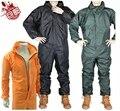 Moda lluvia chaqueta A Prueba de agua y prueba de aceite/polvo/aerosol/pintura de aerosol/de la motocicleta/incluso cap/impermeable Conjoined