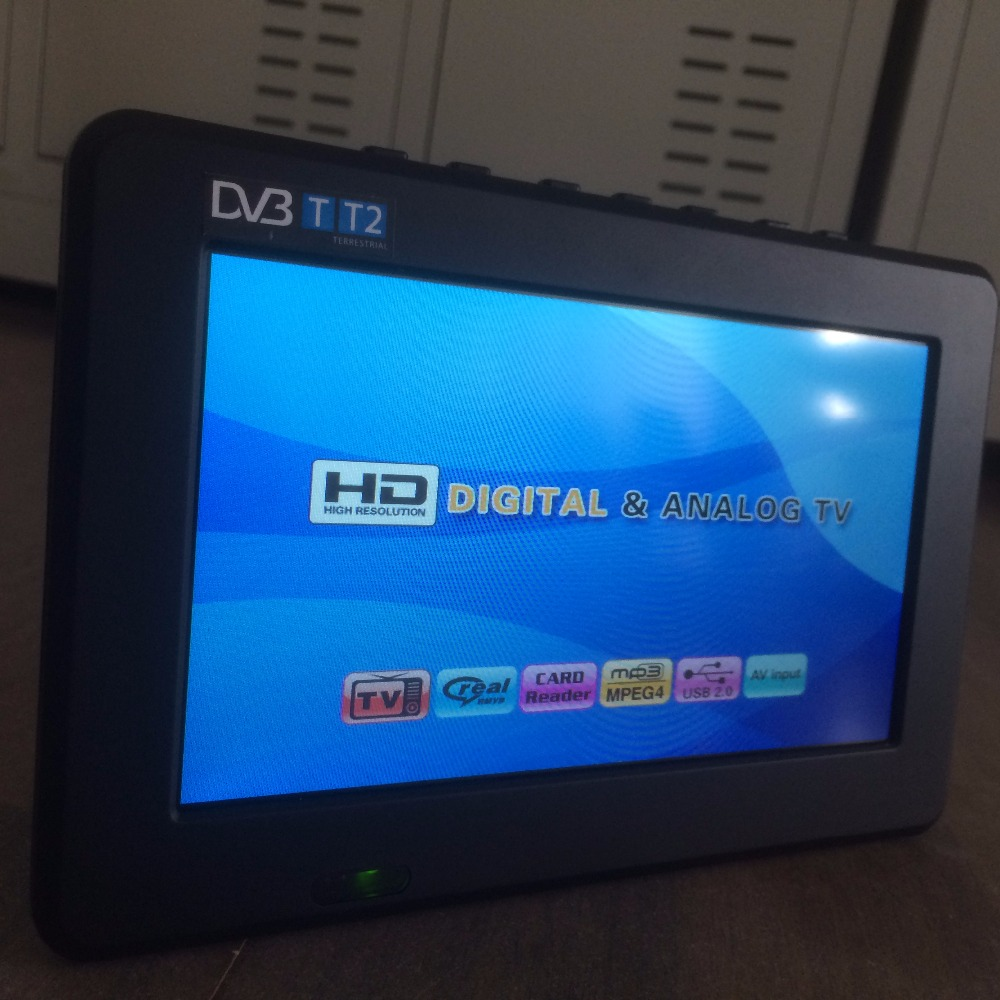 2017 New Televisions 7 Inch HD TV TFT LCD Color DVB T2 Portable TV With Wide