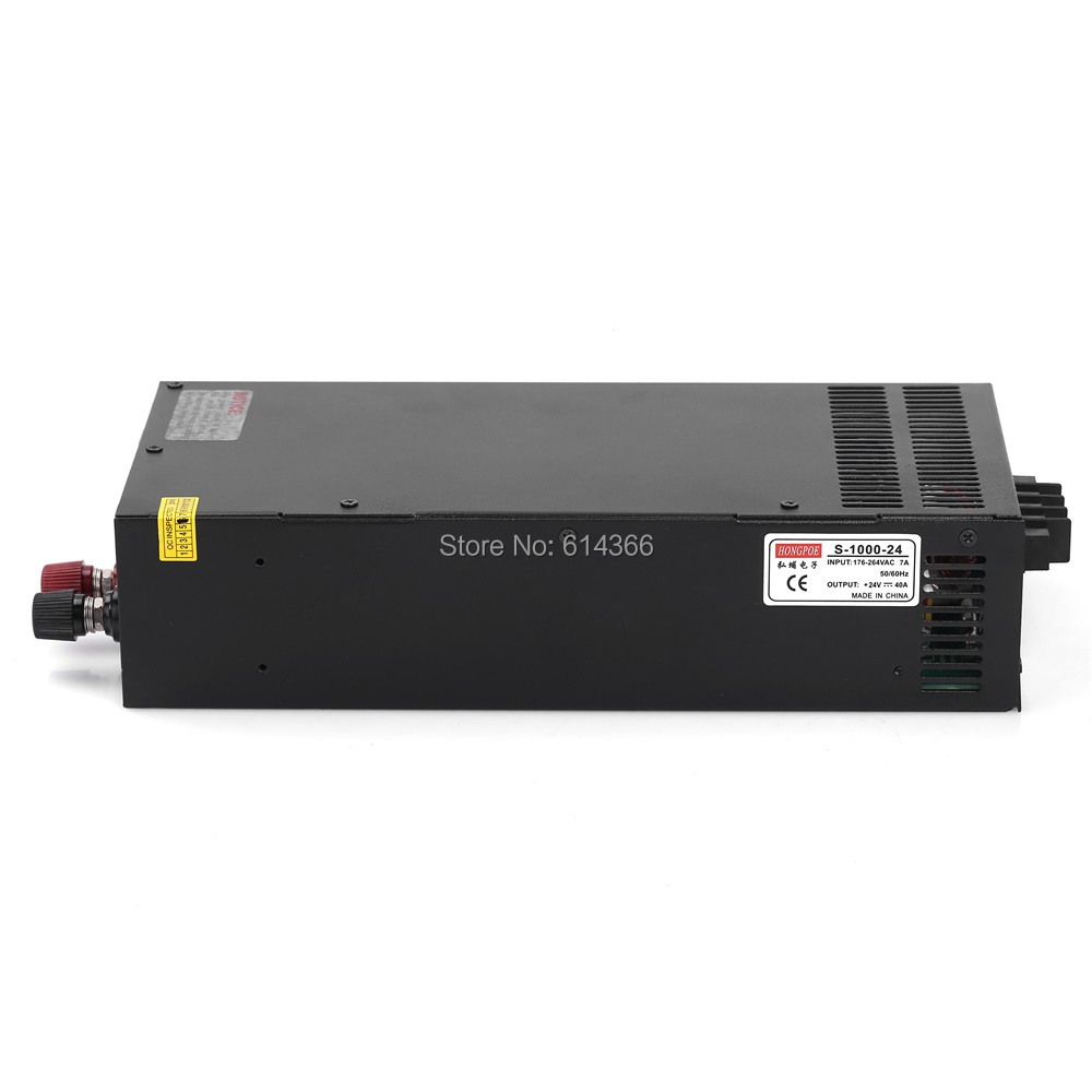 Wholesale 5pcs Industrial grade power supply 1000W 24V Power Supply 24V 80A AC-DC High-Power PSU 1000W S-1000-24 industrial grade 500w 24v power supply 24v 20a ac dc high power psu 500w dc24v