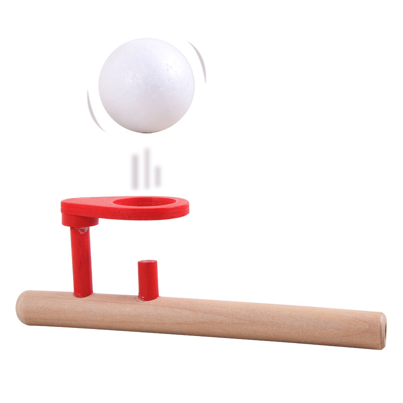Wooden Toys Fun Blowing Ball Game Classic Early Childhood