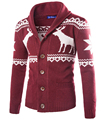 Freeshiping Sweater Animal Pattern Casual coat men warm Hight Quliaty Cardigans Coarse wool Male rebecas16M77