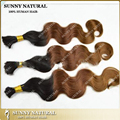 """100grams 12""""-28"""" Ombre Two Tone Colored hair extension human  brading hair bulk ombre hair extension"""