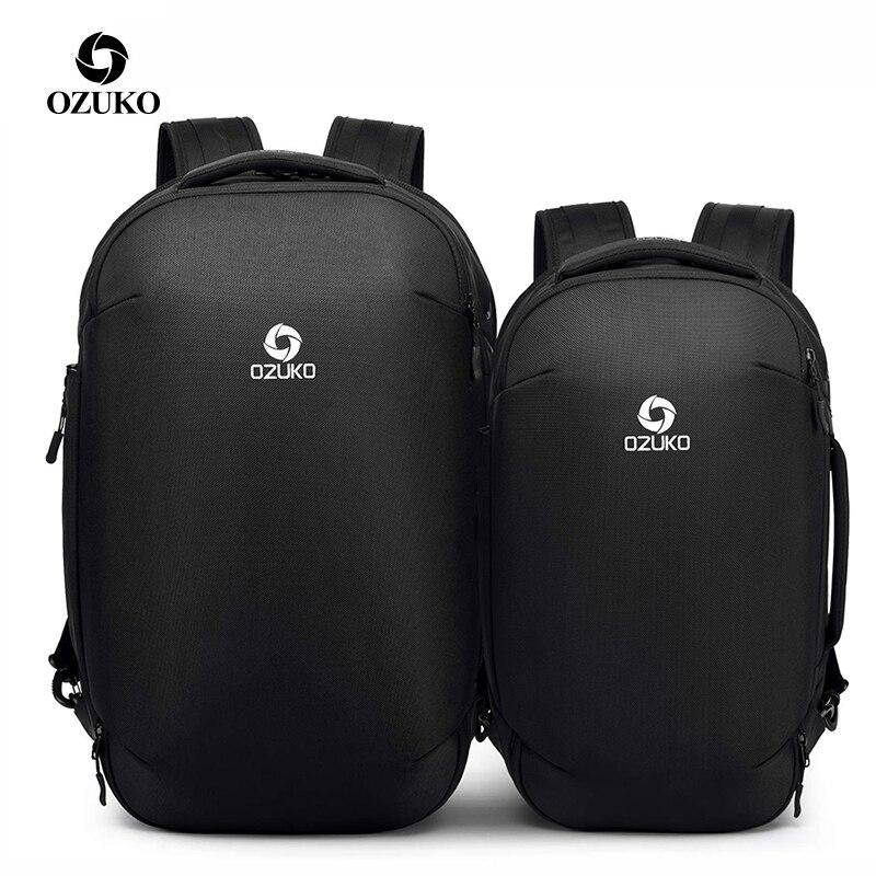Marque hommes multifonction 15.6 17 pouces sacs à dos d'ordinateur portable décontracté voyage affaires grande capacité étanche mâle Mochila sacs de voyage
