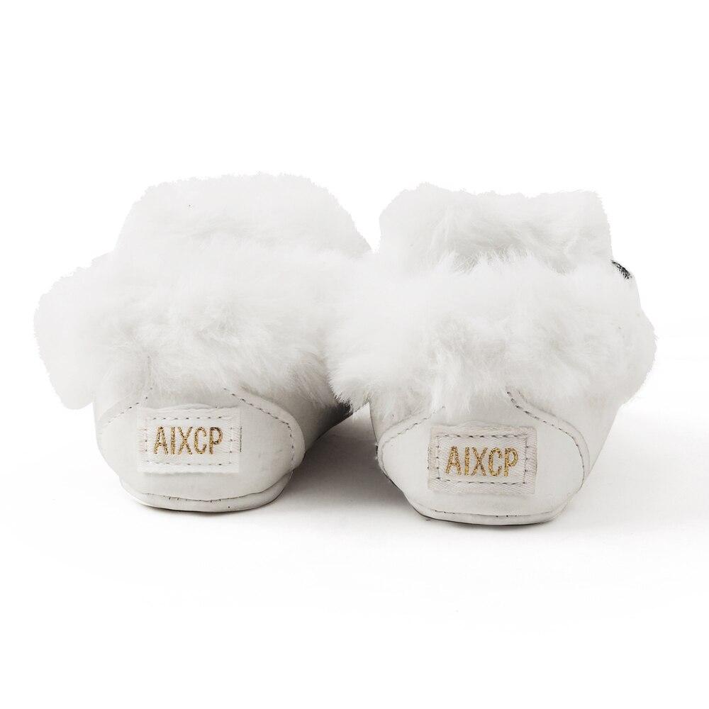 Delebao pluizige winter baby laarzen warme pasgeboren lace-up peuter - Baby schoentjes - Foto 4