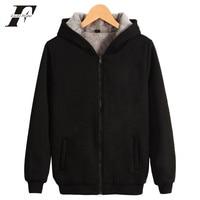 LUCKYFRIDAYF Zipper Thick Warm Sweatshirt Solid Color Winter Casual Brand Hoodie Clothing Cap Hoodies Women/Men oversized hoodie