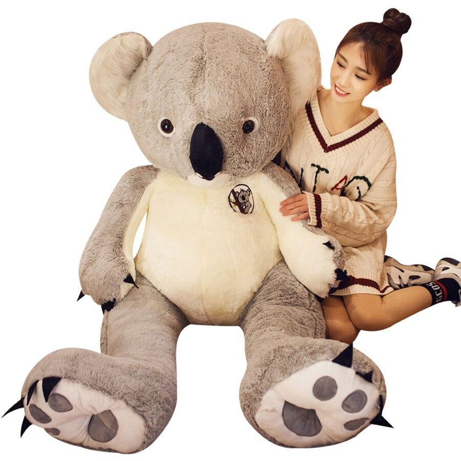 140cm Cute Giant Koala Bear Plush Toy Cute Plush Bears Dolls Soft Stuffed Animal Doll Brinquedo Menina Girlfriend Gift 20T0467 140cm donkey doll donkey plush toy good as a gift soft stuffed toy page 9