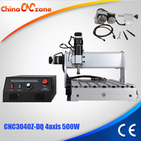 CNC 3040Z DQ 4 Axis Mini CNC Milling Machine Engraver Engraving Milling Drilling Cutting Machine 500W