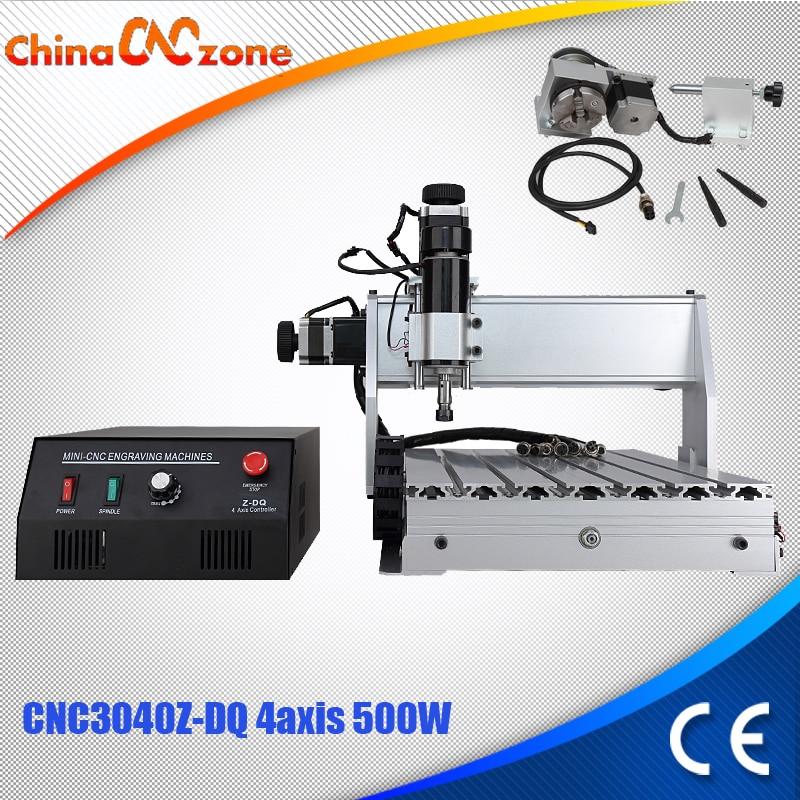 где купить CNC 3040Z-DQ 4-axis mini CNC milling machine Engraver Engraving Milling Drilling Cutting Machine 500W Manufacturer Supplier дешево