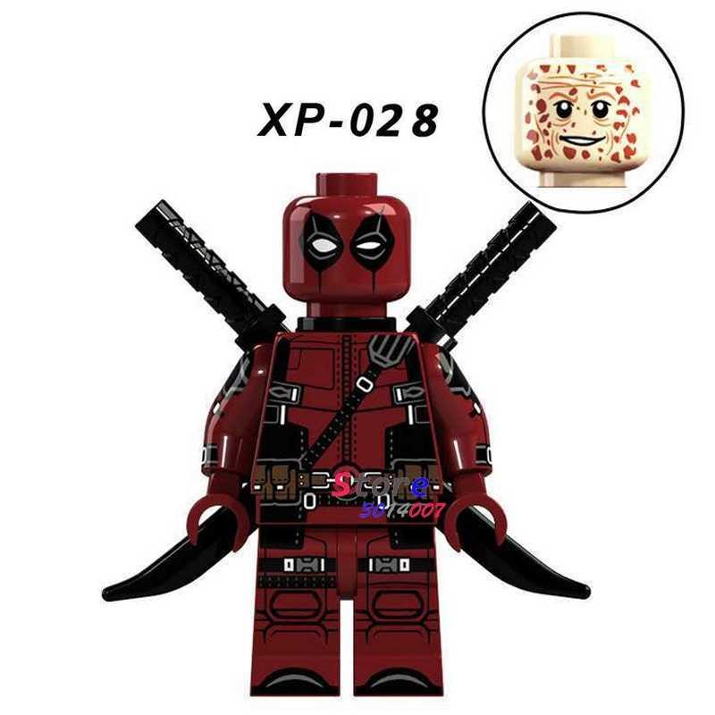 1 piezas de bloques de construcción un superhéroe Deadpool Navidad hobby chicas fantásticas diy juguetes para niños de regalo