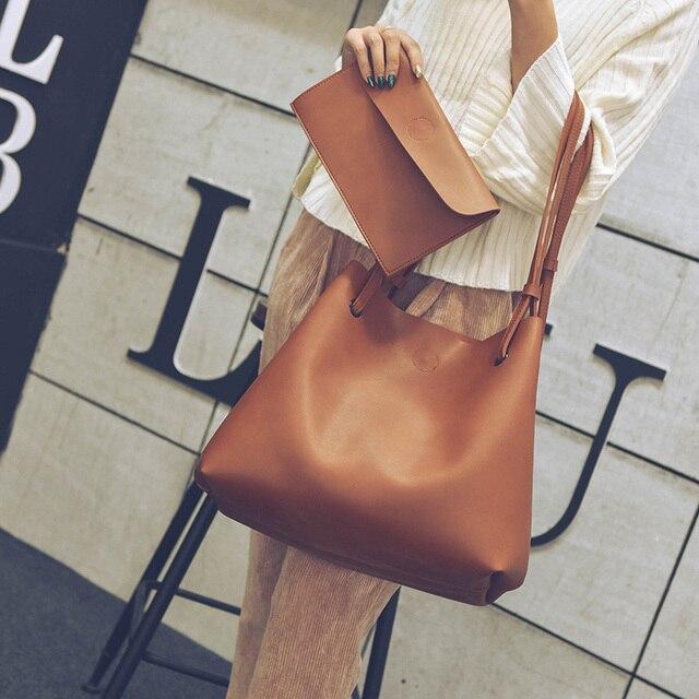 d2f30a83f Estilo quente do sexo feminino bolsa de ombro bolsa saco de couro PU breve  voga de