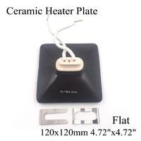 Ceramic Heater Board 120 120MM 220V 230V 800W Black Flat Top Upper Infrared Ceramic Heating Plate
