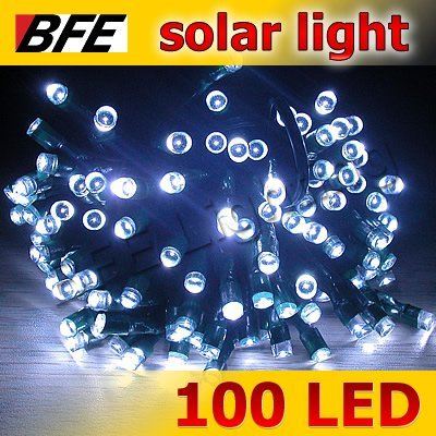 18m 100 LED White Solar String Fairy Lights Outdoor Waterproof Thanksgiving Easter Day