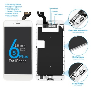 """Image 5 - A1634 A1687 A1699 Full set Display For Apple iPhone 6S Plus LCD Touch Sensor Digitizer Assembly 5.5"""" Screen Home button +Speaker"""
