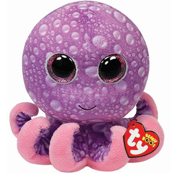 "Pyoopeo Ty Beanie Boos 6"" 15cm Legs the Octopus Plush Regular Soft Big-eyed Stuffed Animal Collection Doll Toy with Heart Tag"