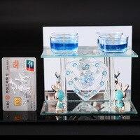 Moderno stand vela perfumada velas flash escritorio transparente candelabros decoración de la boda artesanía de vidrio vela titular