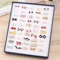 50 pairs/set wholesale fashion creative kinds of mix colorful kinds of stud earring for women Prevent allergy earring gift