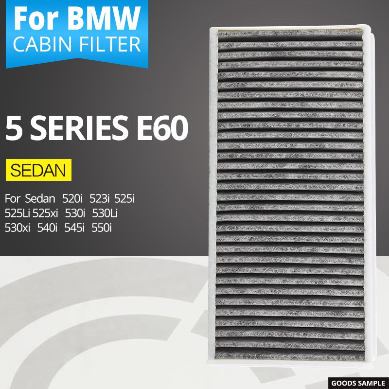 Air conditioning filter for BMW 5 series E60 sedan 520i 523i 523Li 525i 525Li 525xi 530i 530Li 530xi 540i 545i 550i for bmw e60 e61 520i 525i 530i 540i 545i 550i m5 2003 2007 halogen headlight ultra bright illumination cob led angel eyes kit