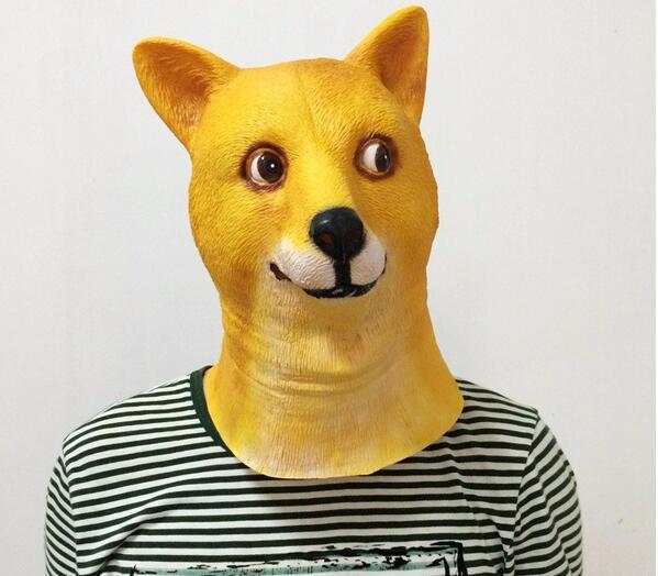 Crazy Dog Mask Nieuwigheid Creepy Halloween Kostuum Props - Feestversiering en feestartikelen - Foto 2