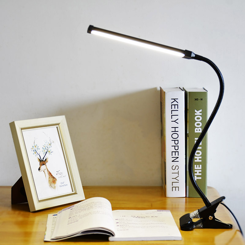 цена на Fonkin Usb LED Flexo Table Lamp With Clip Dimmable Rechargeable Flexible Luminaria Desk Lamp For Study Book Light 5V 8W 90801