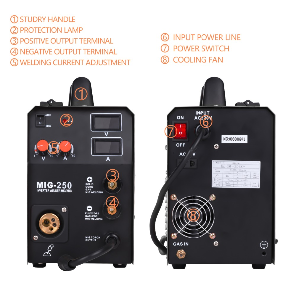 MIG250 welding machine 02