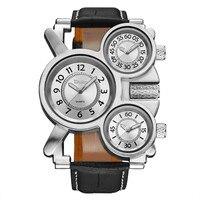OULM 1167 Для мужчин Спорт большой, Винтаж бренд большой импортированных часы Reloj Hombre Relogio masculino ОРИГИНАЛ армии Повседневные часы черный