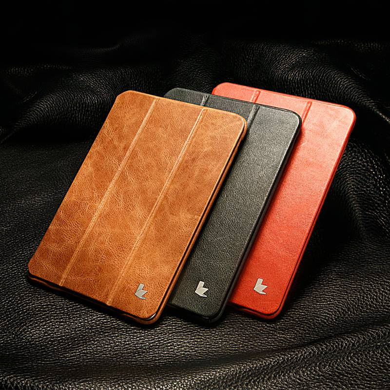 Jisoncase Genuine Leather For iPad Mini 1 2 3 Case Folding Folio Auto Wake Sleep Luxury Brand Smart Cover for iPad mini 2 3 7.9