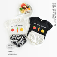 Girls Sets Summer Children Sets 2017 New Arrive Casual Baby Sets Kids Suits Girl Clothes Cartoon Top+Shorts