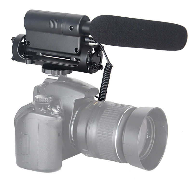 Andoer Microphone Condenser Photography Interview Recording Microphone for Canon Nikon Camera DSLR DV SGC 598