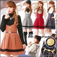 Spring And Autumn Women S Sleeveless One Piece Dress Sweet Preppy Style Soft Slim Vintage Braces