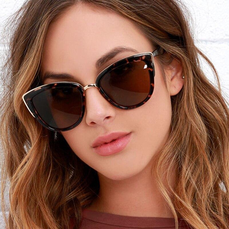 קליידוסקופ משקפיים אופנה חתול עיניים משקפי שמש נשים יוקרה מותג מעצב Vintage משקפי שמש נקבה מלא מסגרת משקפיים