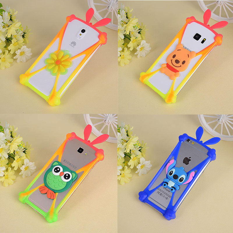 3D Cute Cartoon Animals Soft Silicone Cover For Nokia Lumia 625 620 710 720 730 800 820 830 920 925 930 630 635 1020 CASE Bumper image