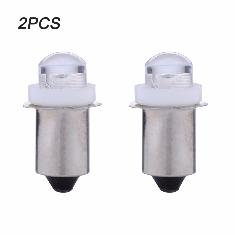LED Upgrade Bulb For Flashlight Torches Work Light Lamp P13.5S PR2 0.5W DC3V 4.5V 6V C+D Cell AA Cells