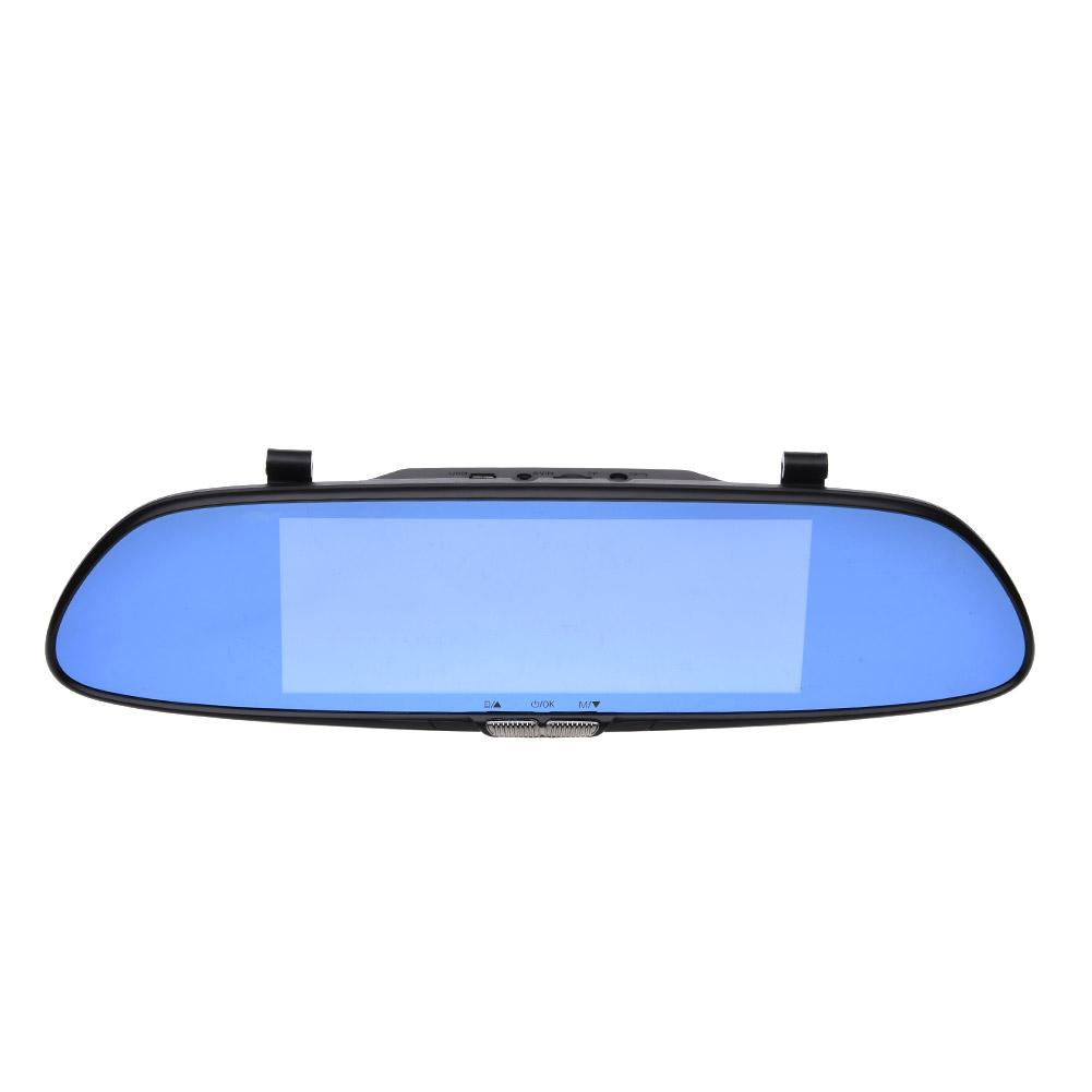 V37 7 inch Car Rear Mirror Recorder Dash Cam 1080P HD Blue Screen Anti-Dazzling Blue Mirror цена