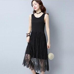 Summer New Style Maxi Long Dress Women Fashion Casual Sleeveless Gauze dress Vintage Party Vestidos Ladies plus size Modal dress