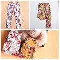 5 шт. / lot девочки-младенцы длинная брюки цветок печать хлопок брюки девочки узкие брюки дети одежда